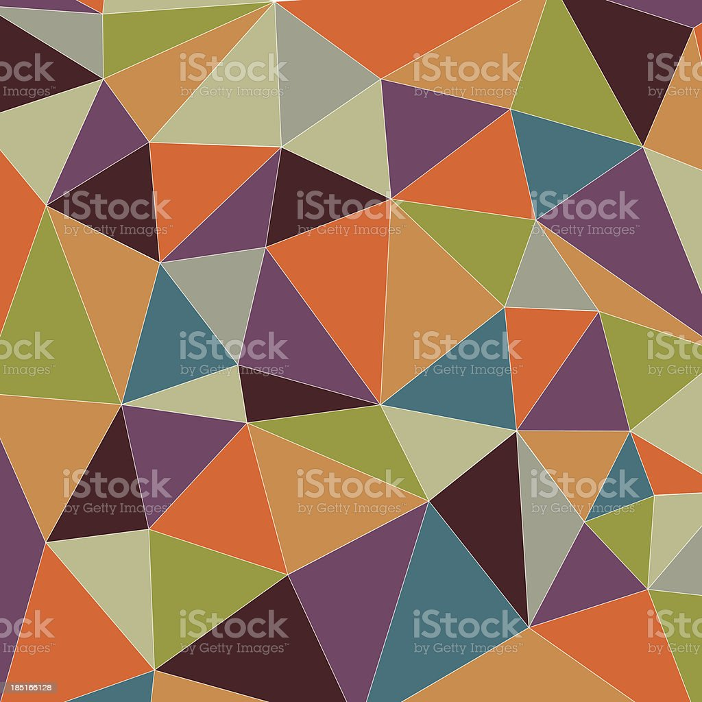 Colorful triangle background royalty-free stock vector art