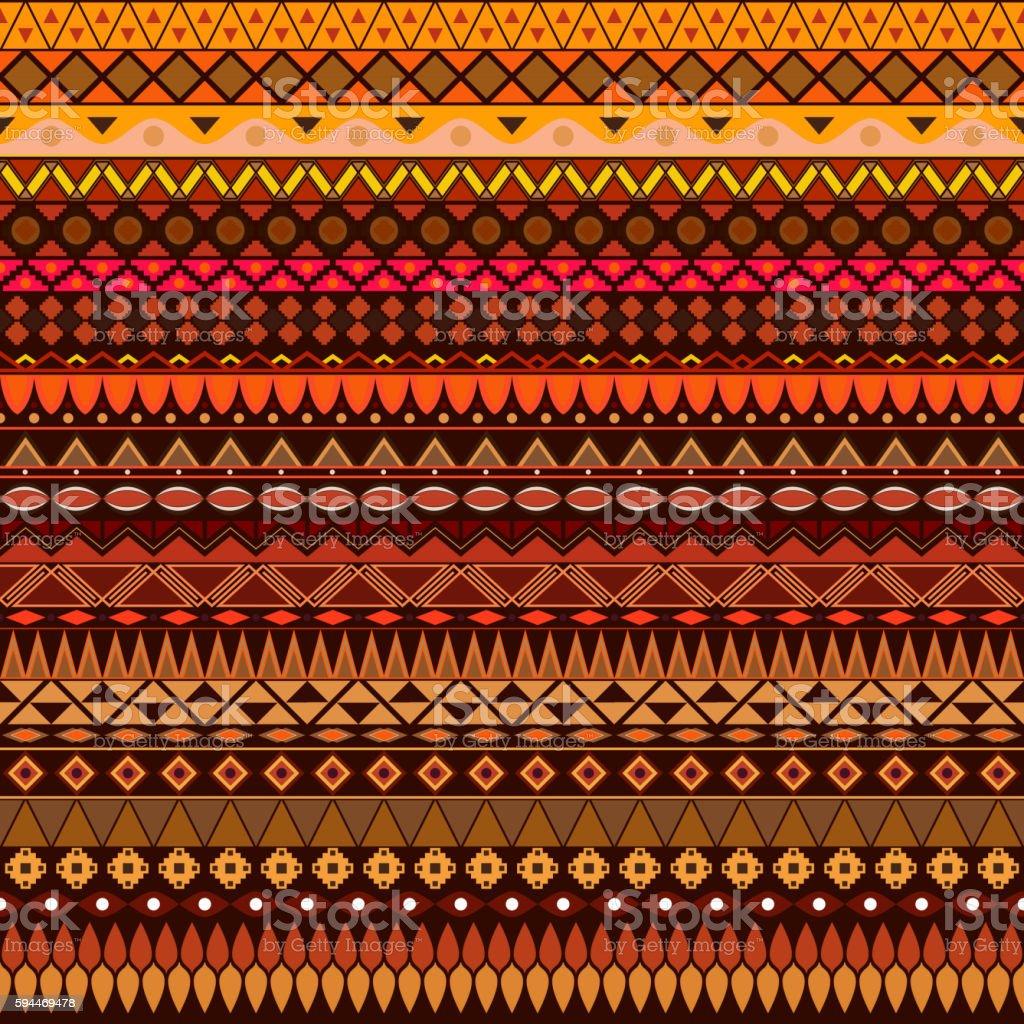 Colorful tribal vintage ethnic seamless pattern vector art illustration