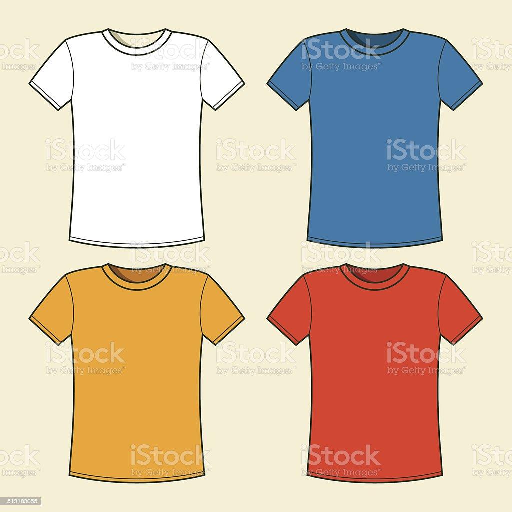 Bunte Tshirts Vorlage Vektor Illustration 513183055 | iStock