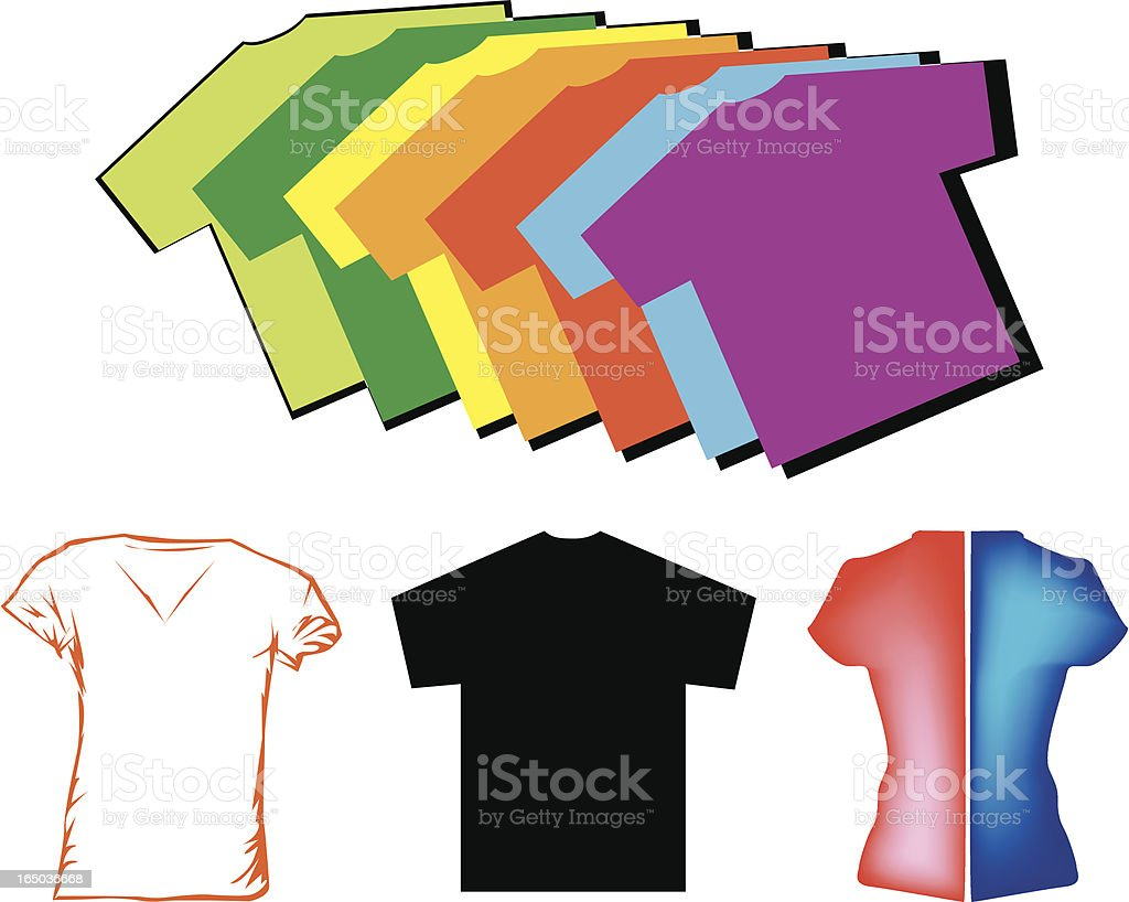 Colorful T-shirts royalty-free stock vector art