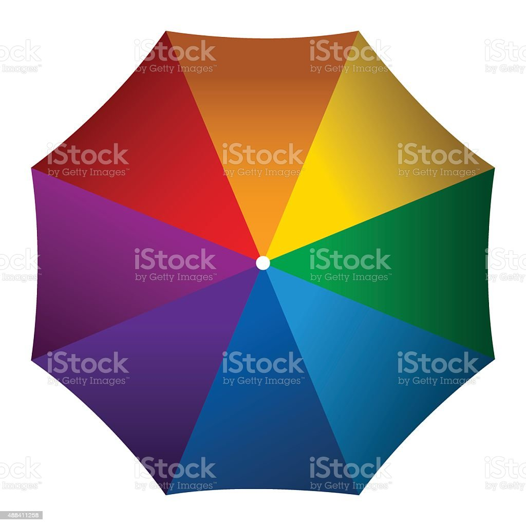 Colorful Umbrella vector art illustration