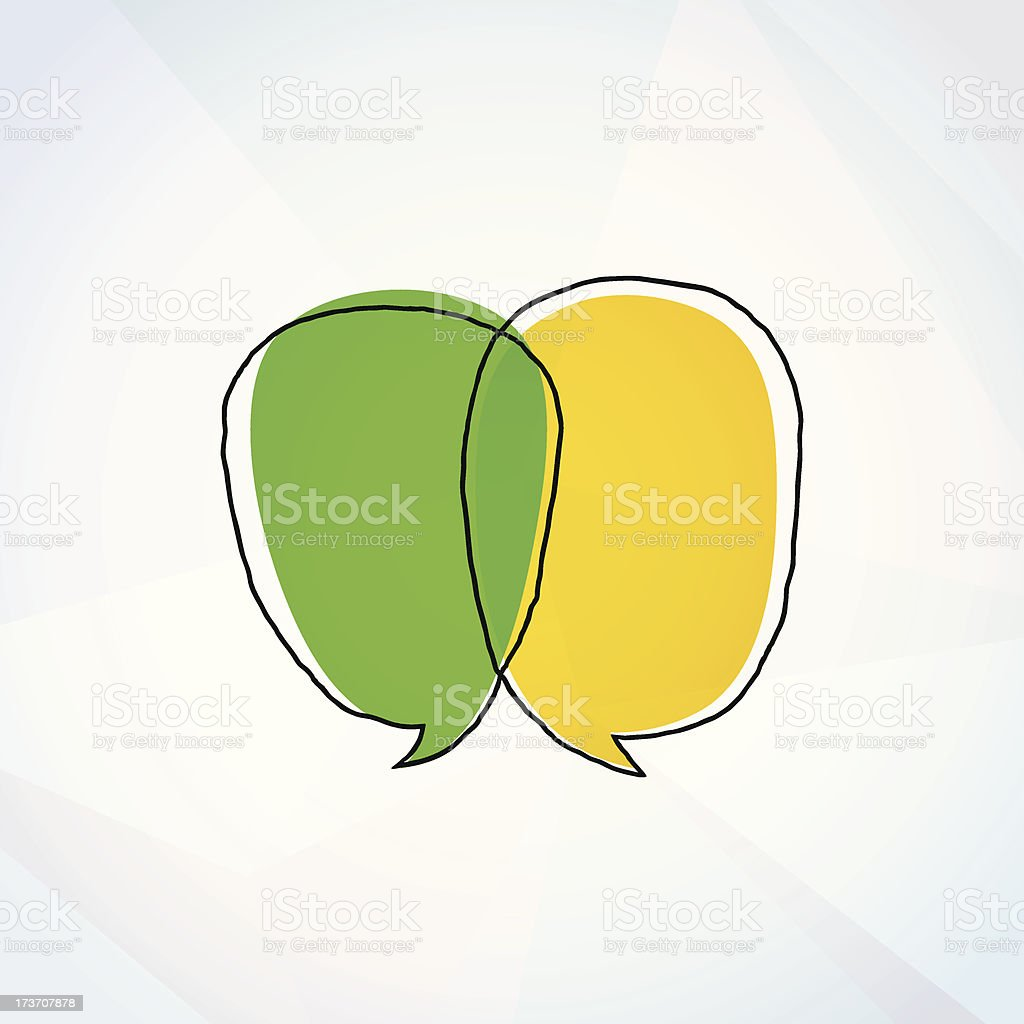Colorful Vector Doodle Speech Bubbles Drawing On Paper royalty-free stock vector art