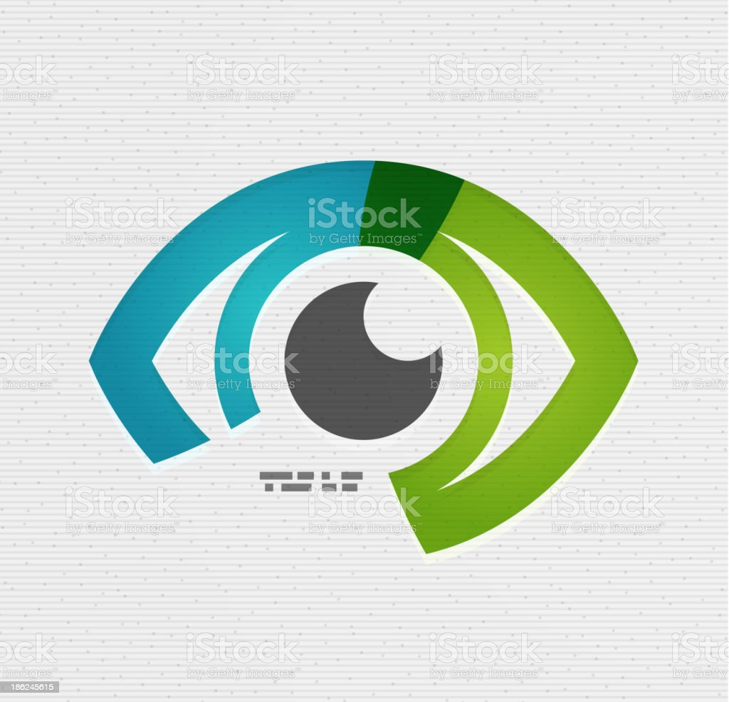Colorful vector eye paper design vector art illustration