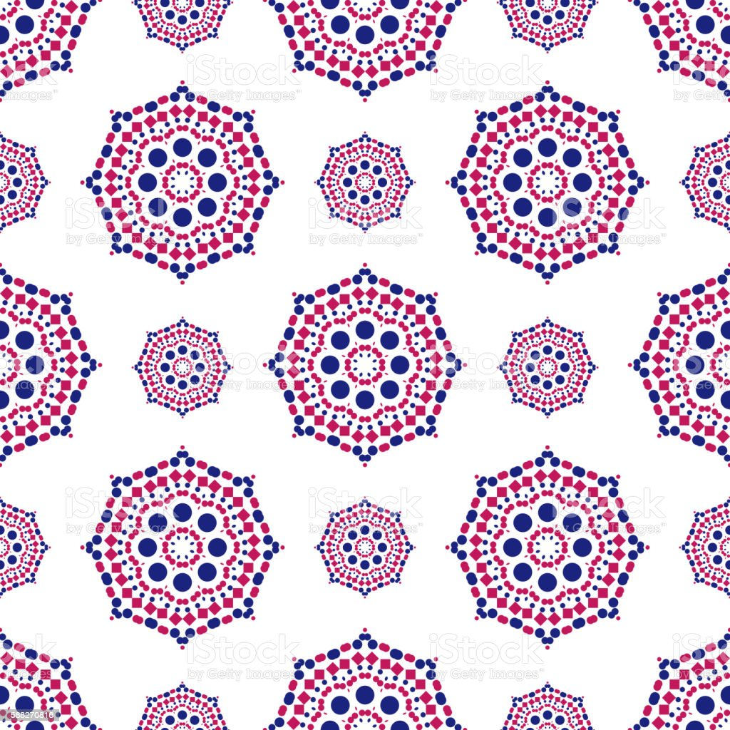 Colorful Vector Geometric Designs Floral Simple Pattern stock ...