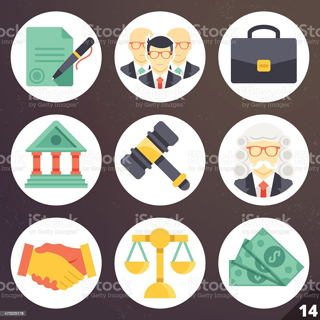 Colorful vector icons for web and mobile applications. Set 14 vector art illustration