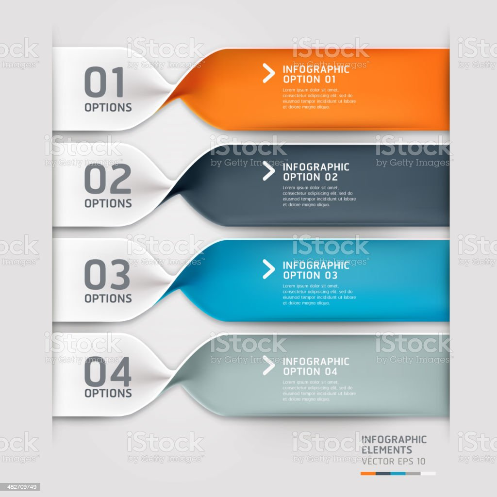 Colorful vector spiral infographics banners royalty-free stock vector art