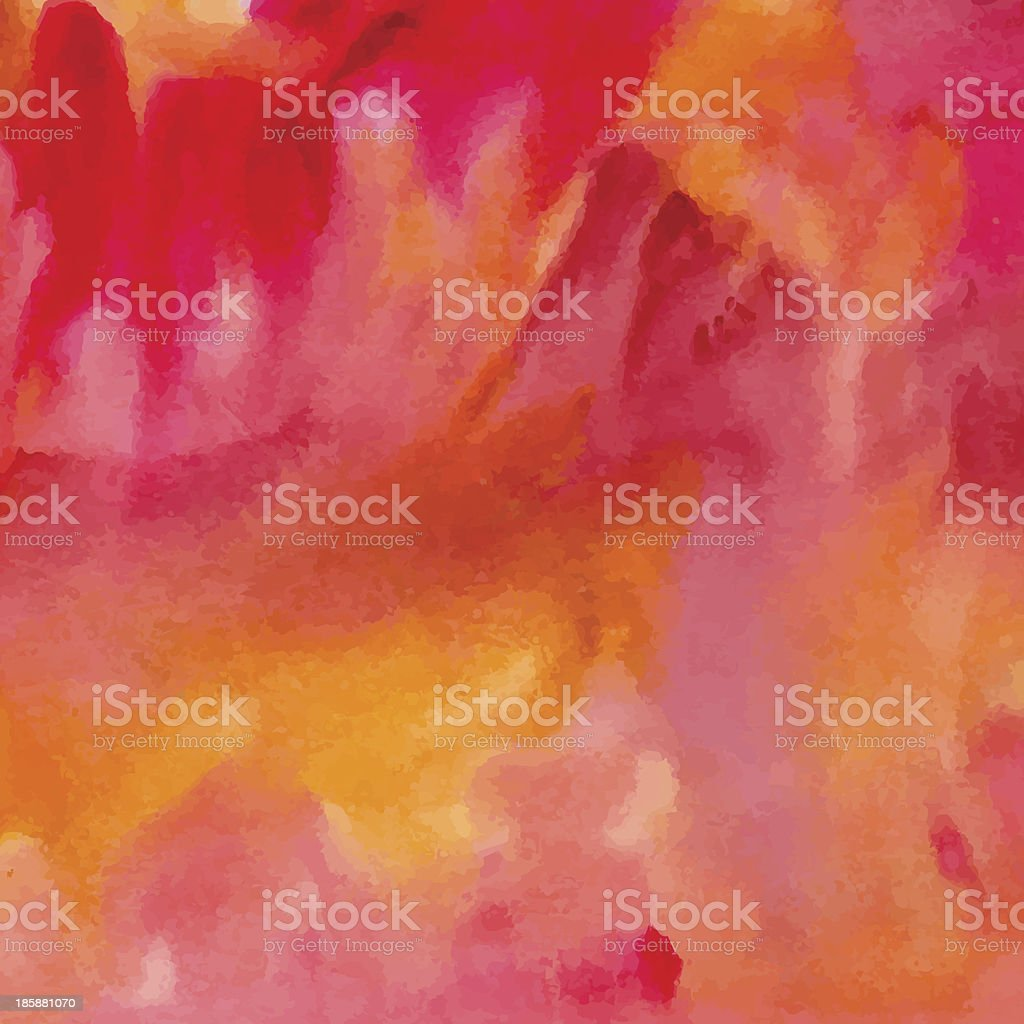 Colorful watercolor background vector art illustration
