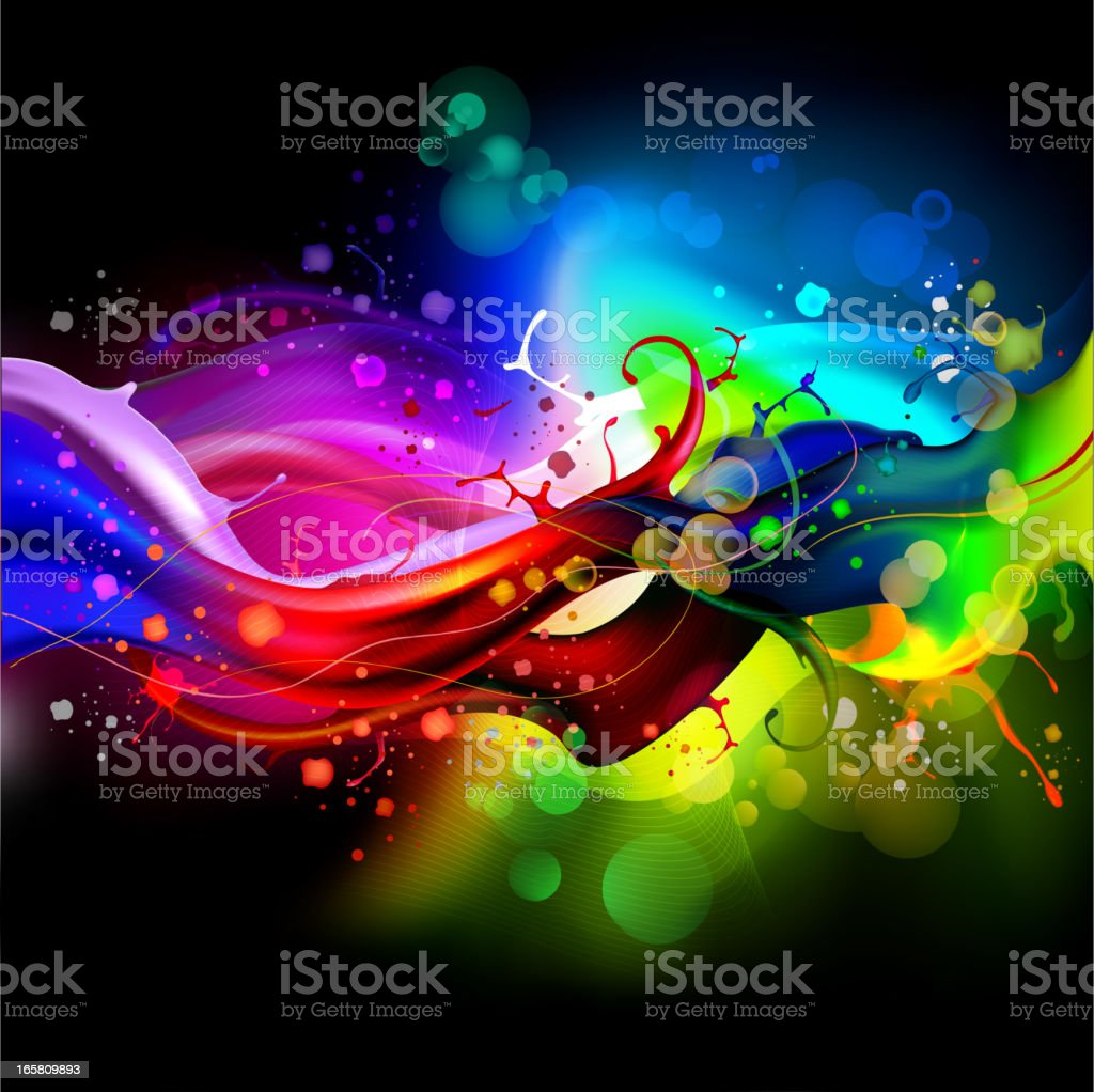 Colorful wave background royalty-free stock vector art