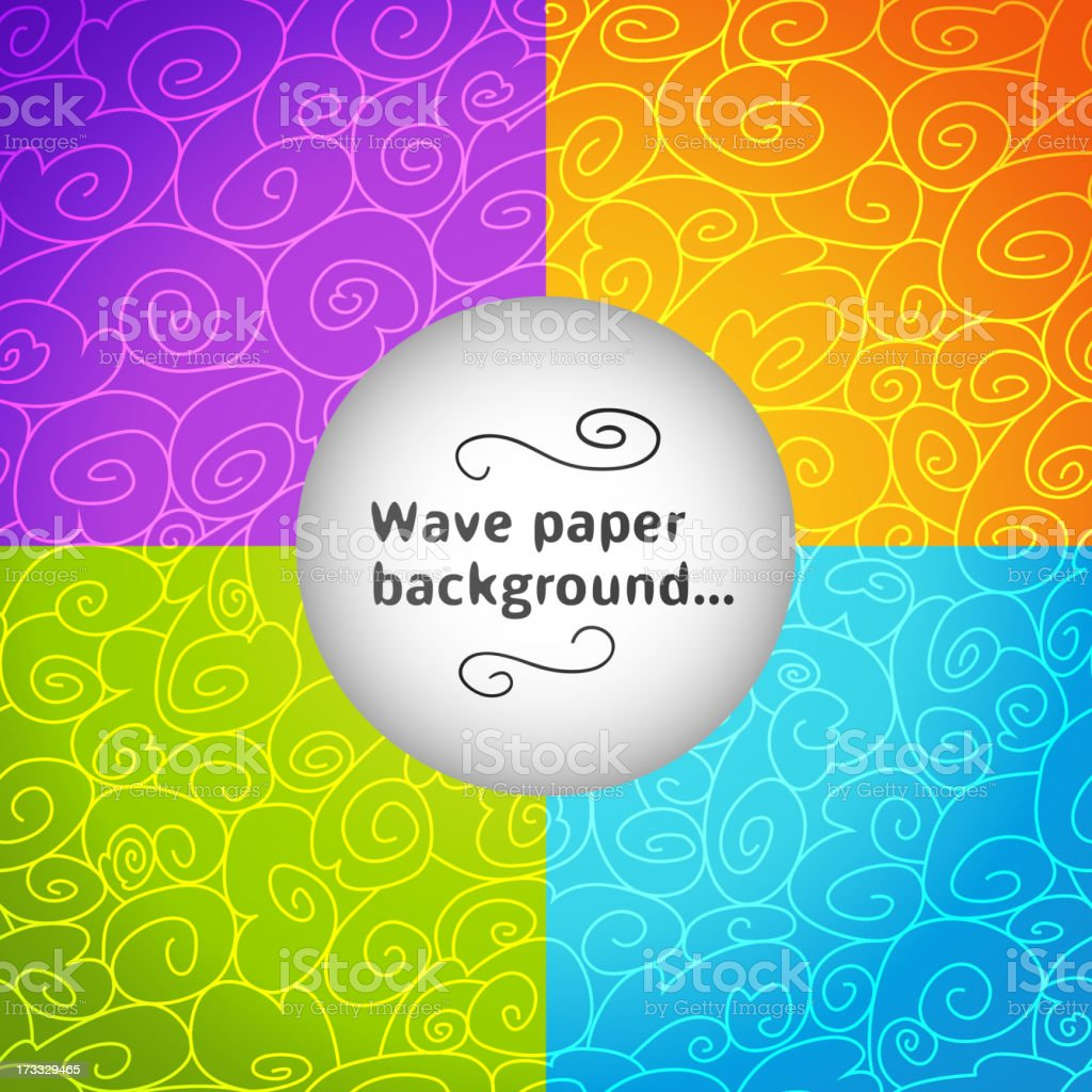 Colorful wave postcard. Vector illustration royalty-free stock vector art