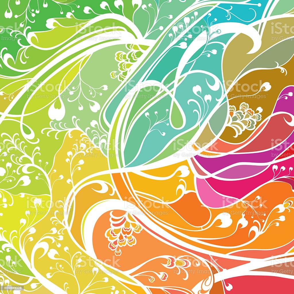 Colorful wavy background. vector art illustration