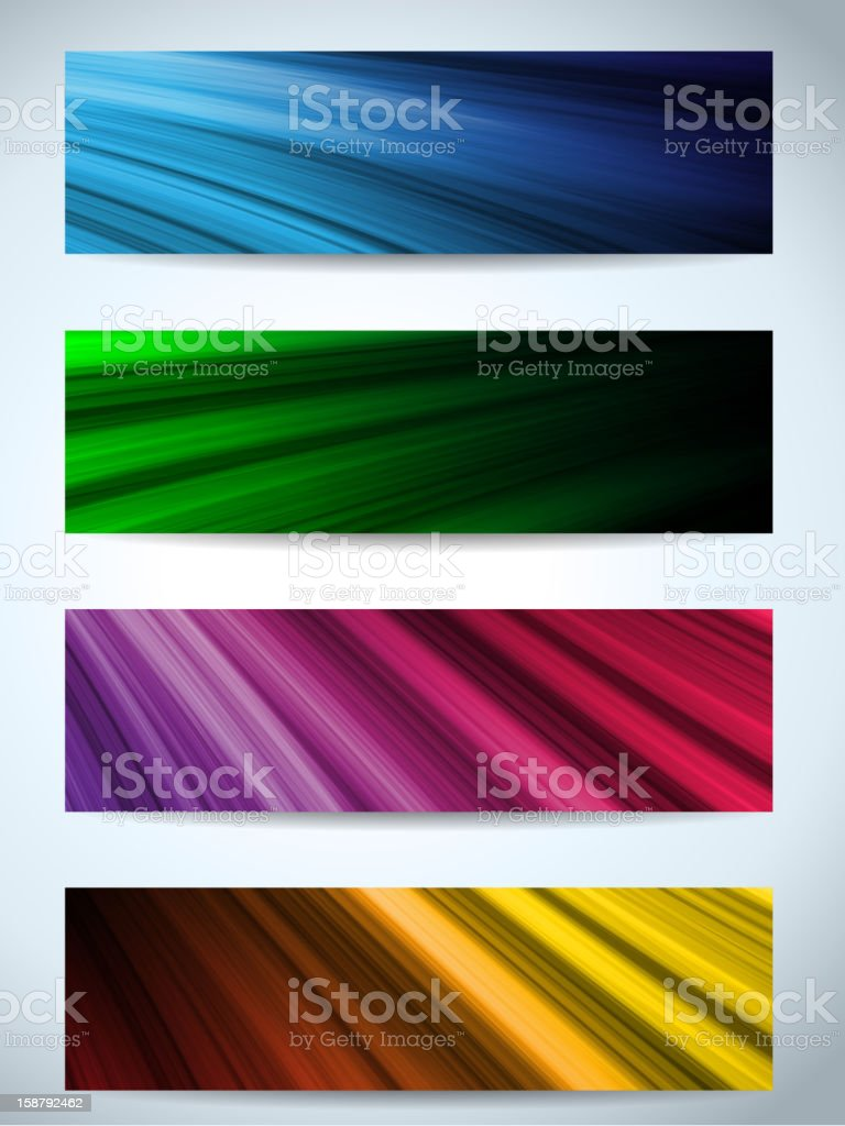 Colorful Web Banners Backgrounds royalty-free stock vector art