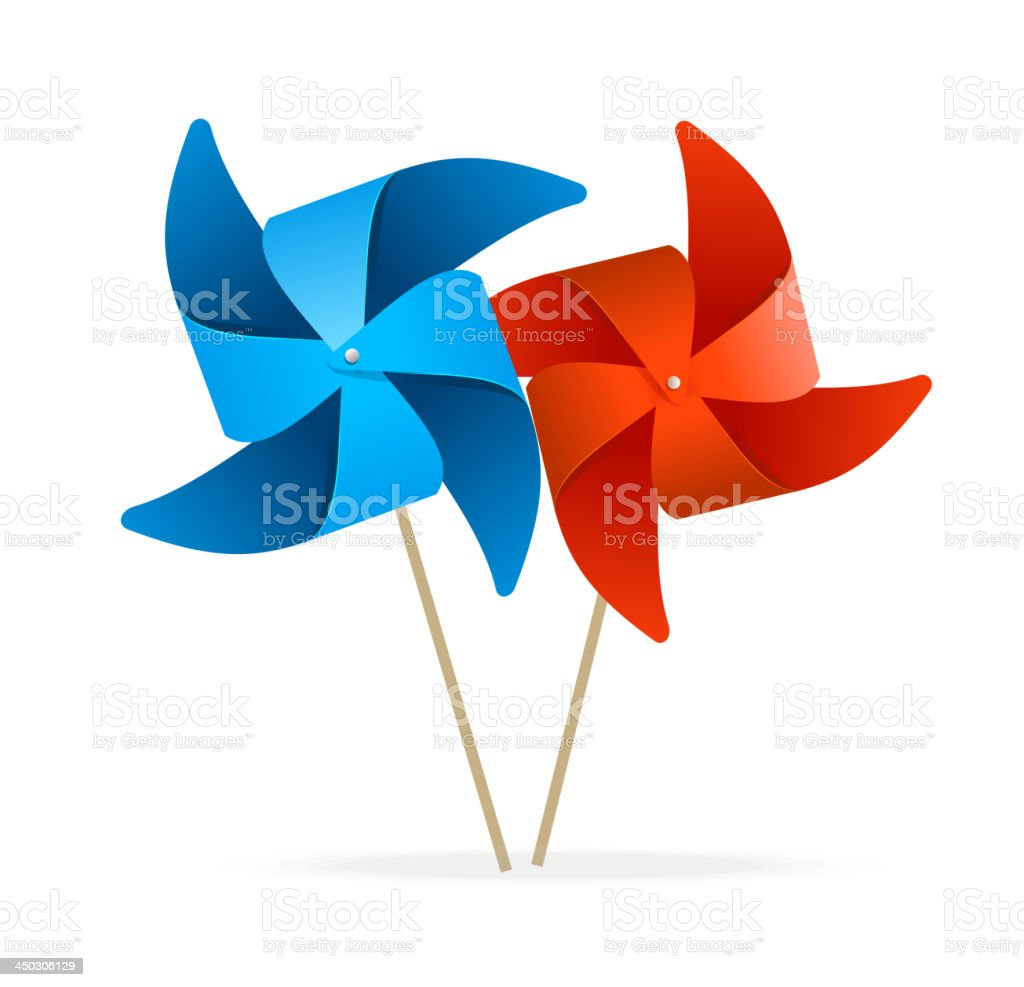 Colorful windmills royalty-free stock vector art