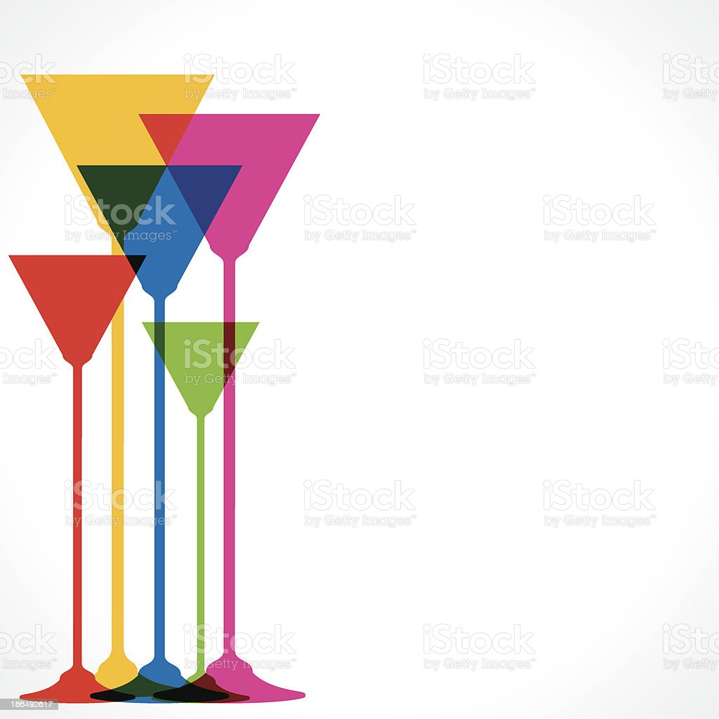colorful wine glass royalty-free stock vector art