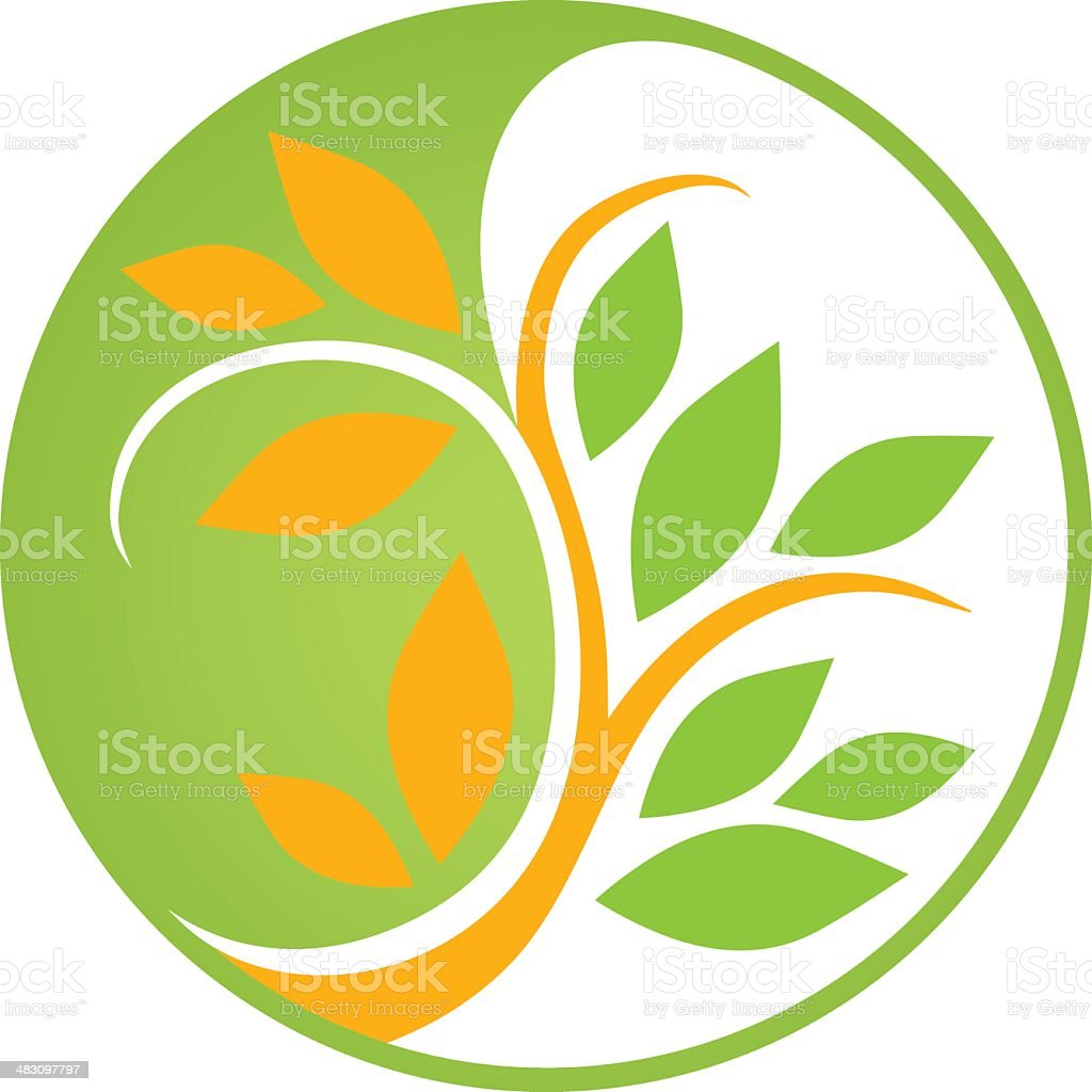 Colorful Yin Yang royalty-free stock vector art