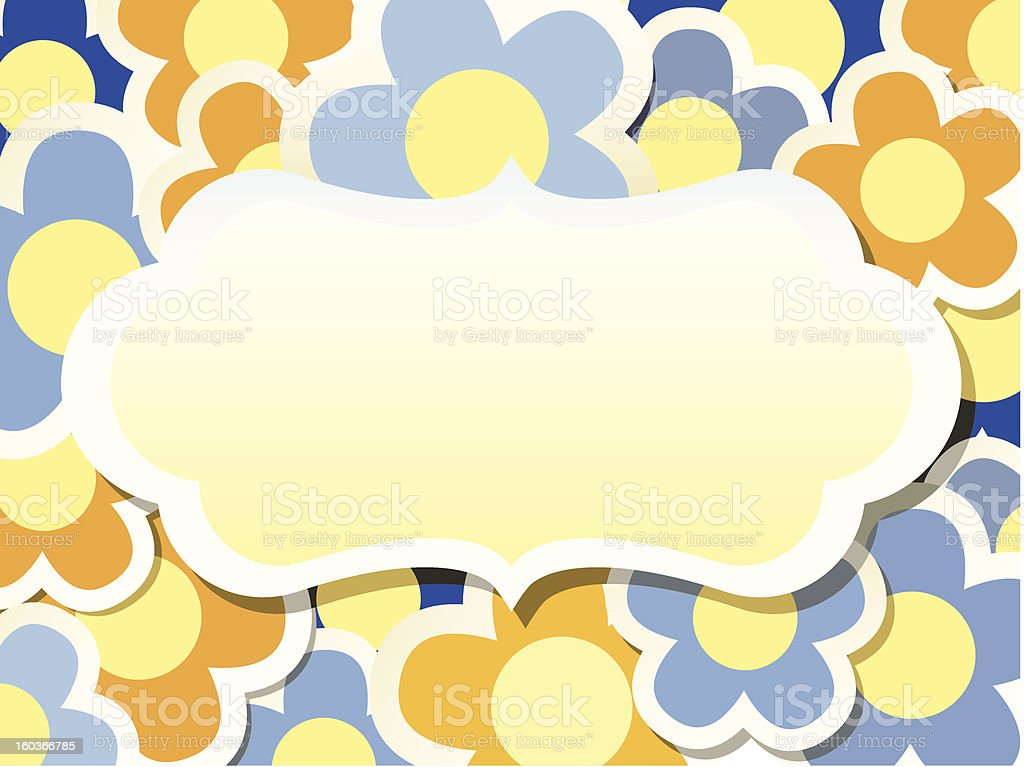 Colorfull background with flower royalty-free stock vector art