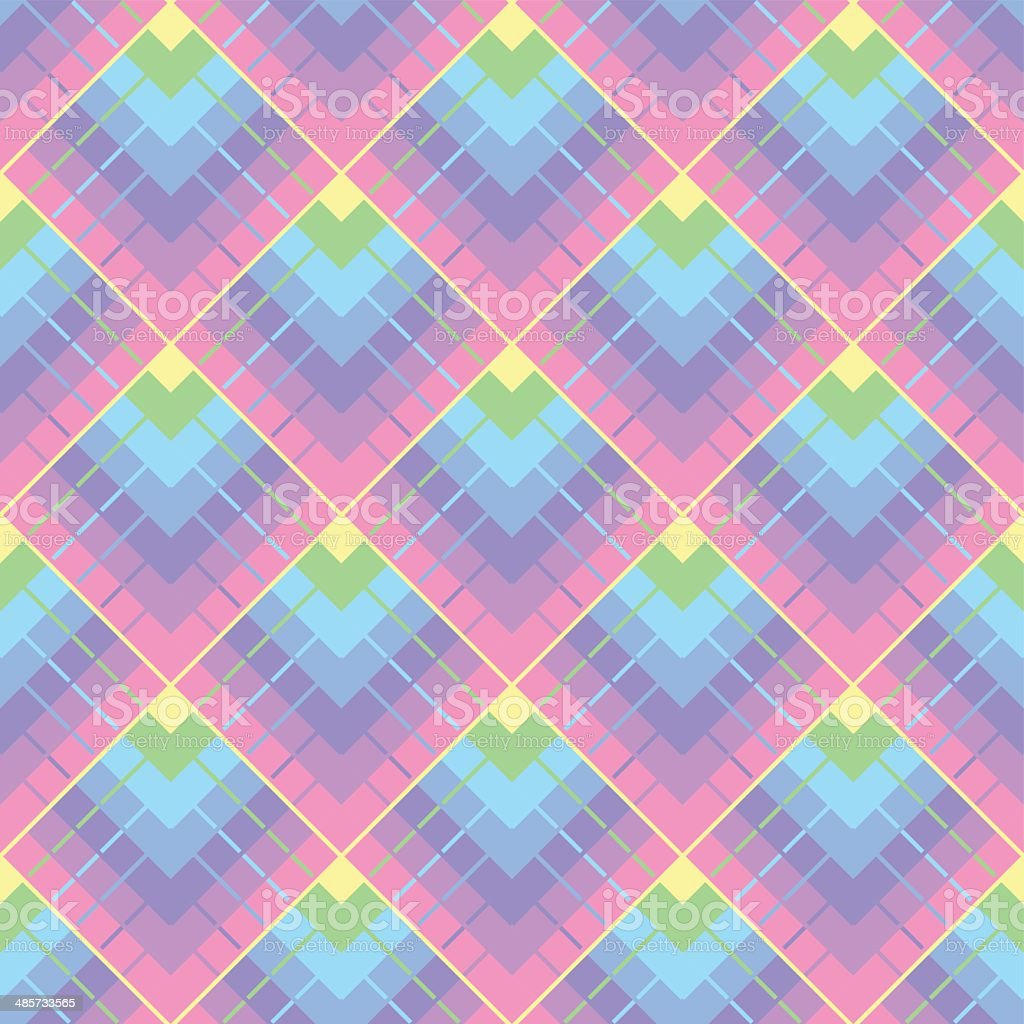 Colorfull background with square seamless pattern vector art illustration