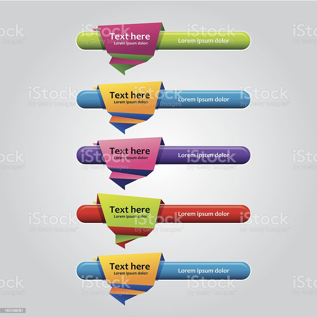Colorfull Banner design elements royalty-free stock vector art