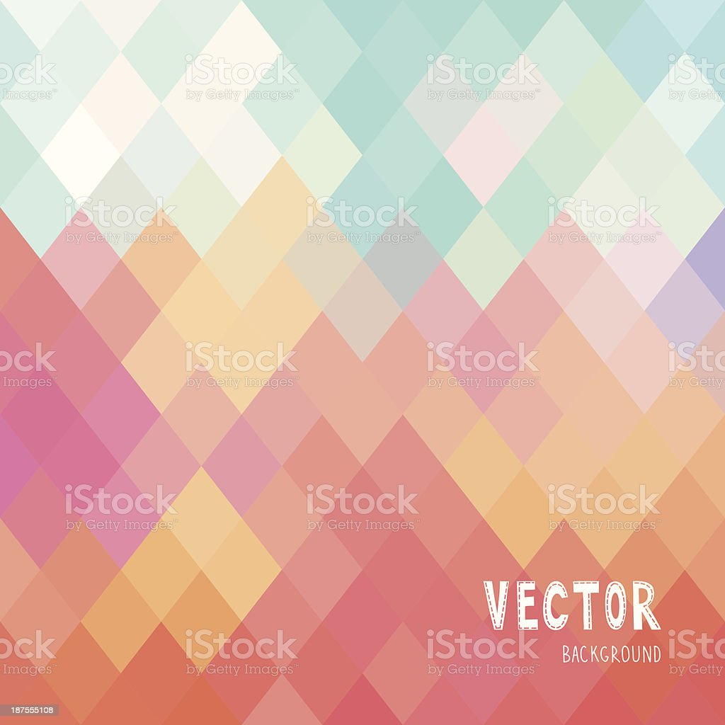 Colorfull rhombus pattern vector art illustration