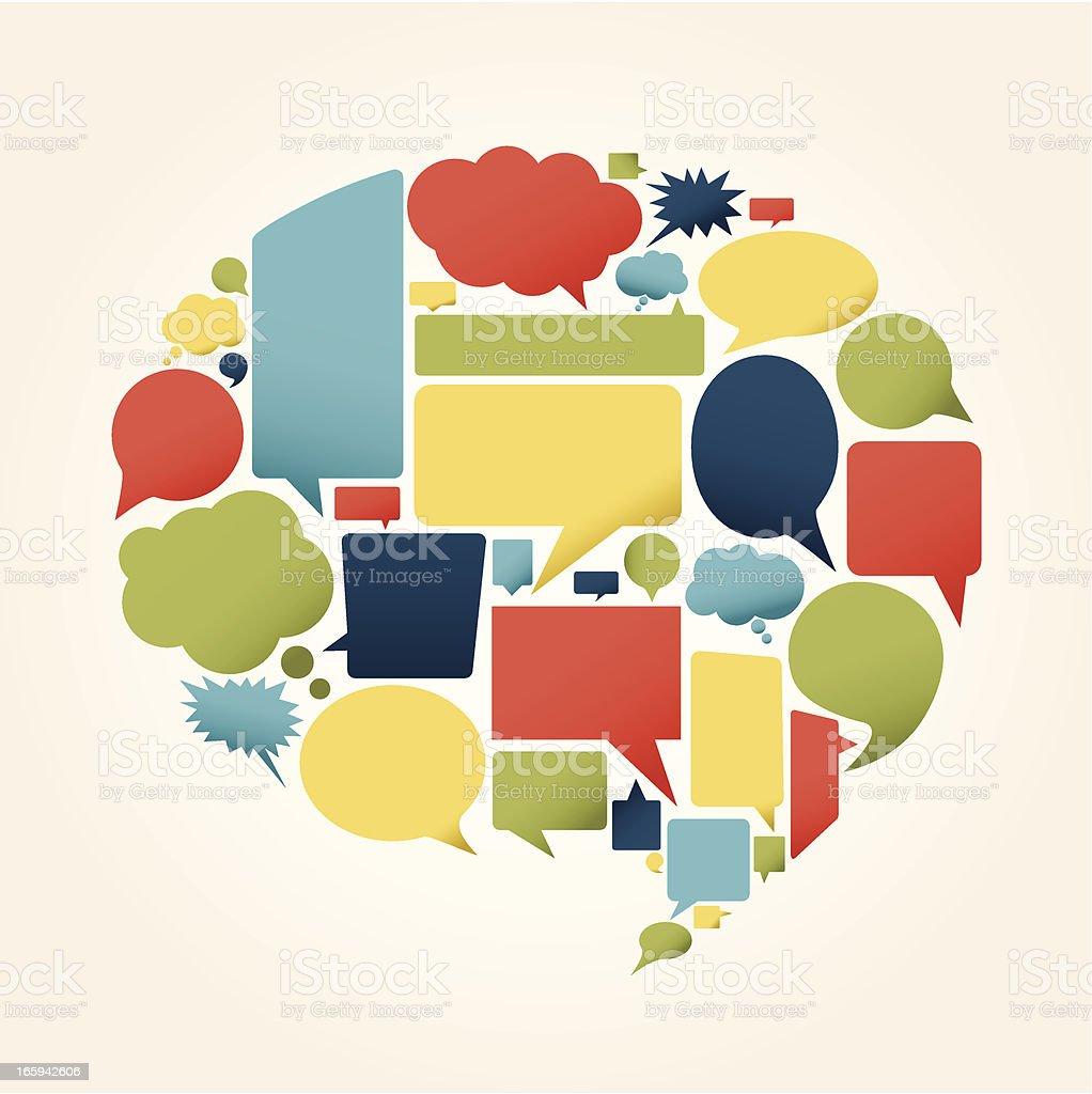 Colorfull speech bubbles royalty-free stock vector art