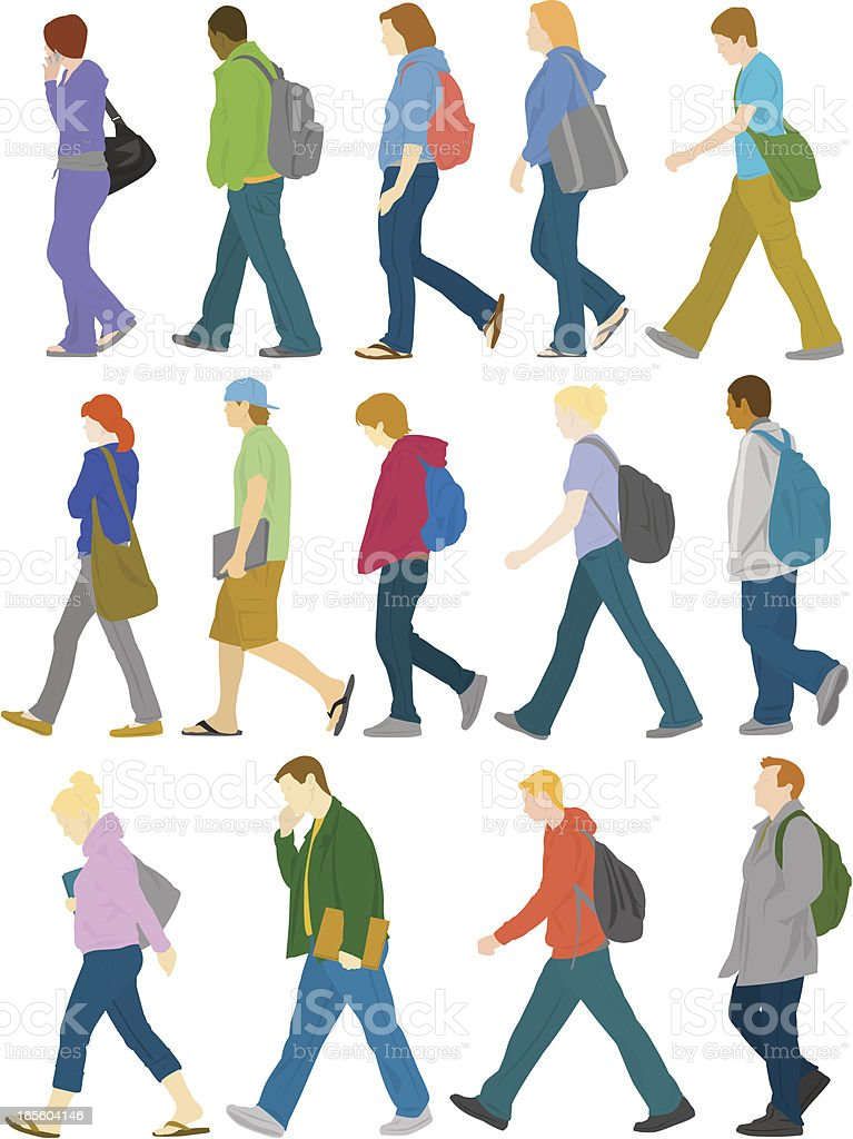 Student With Backpack Clip Art, Vector Images & Illustrations