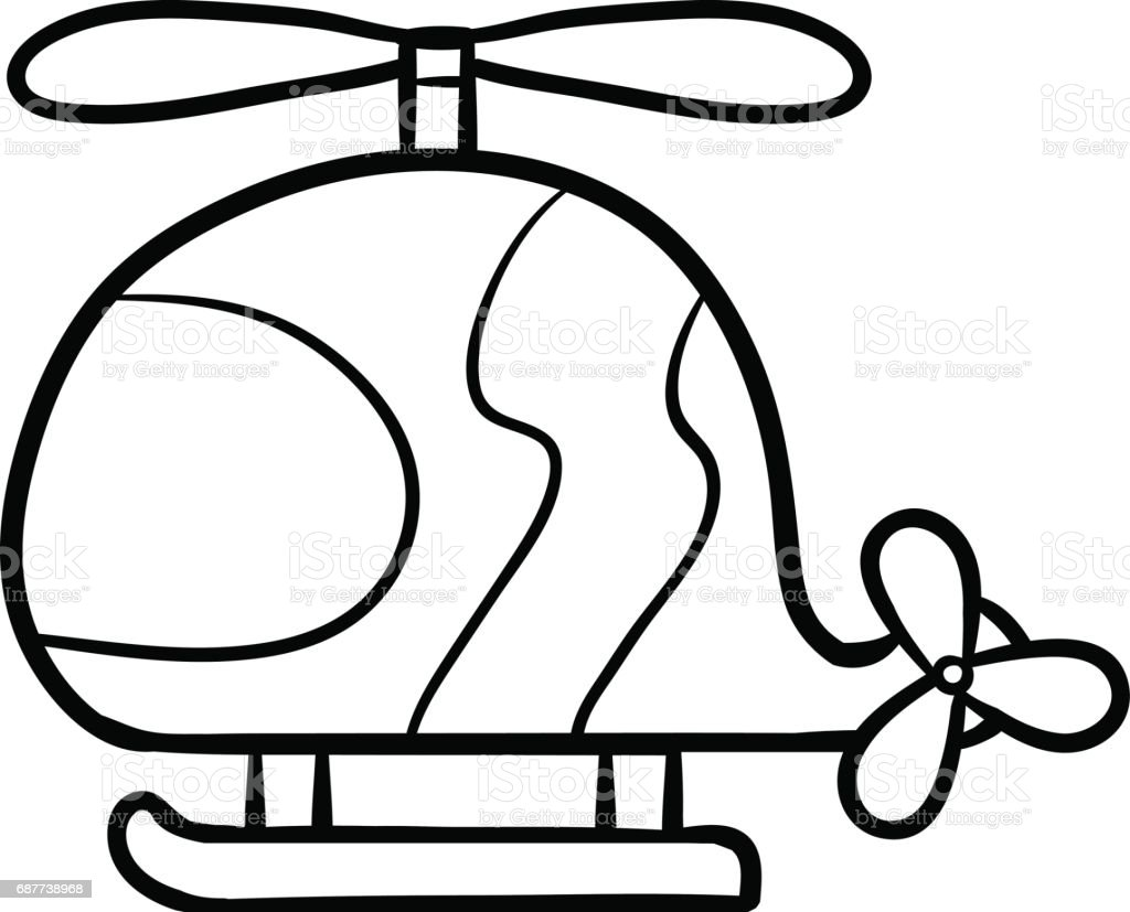 coloring book for kids helicopter stock vector art 687738968 istock