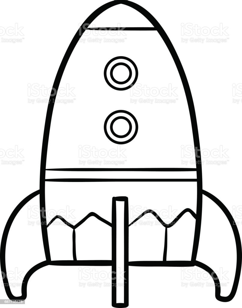 coloring book for kids spaceship stock vector art 687746476 istock