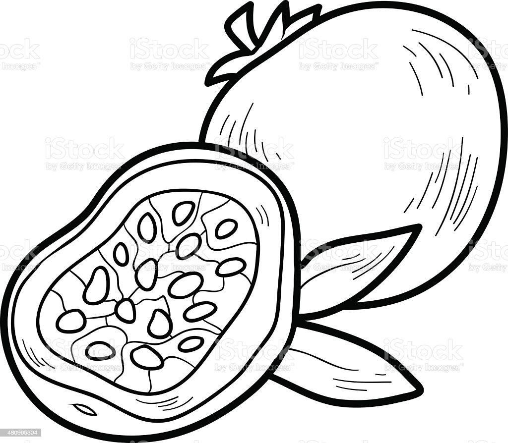 coloring book fruits and vegetables stock vector art 480965304