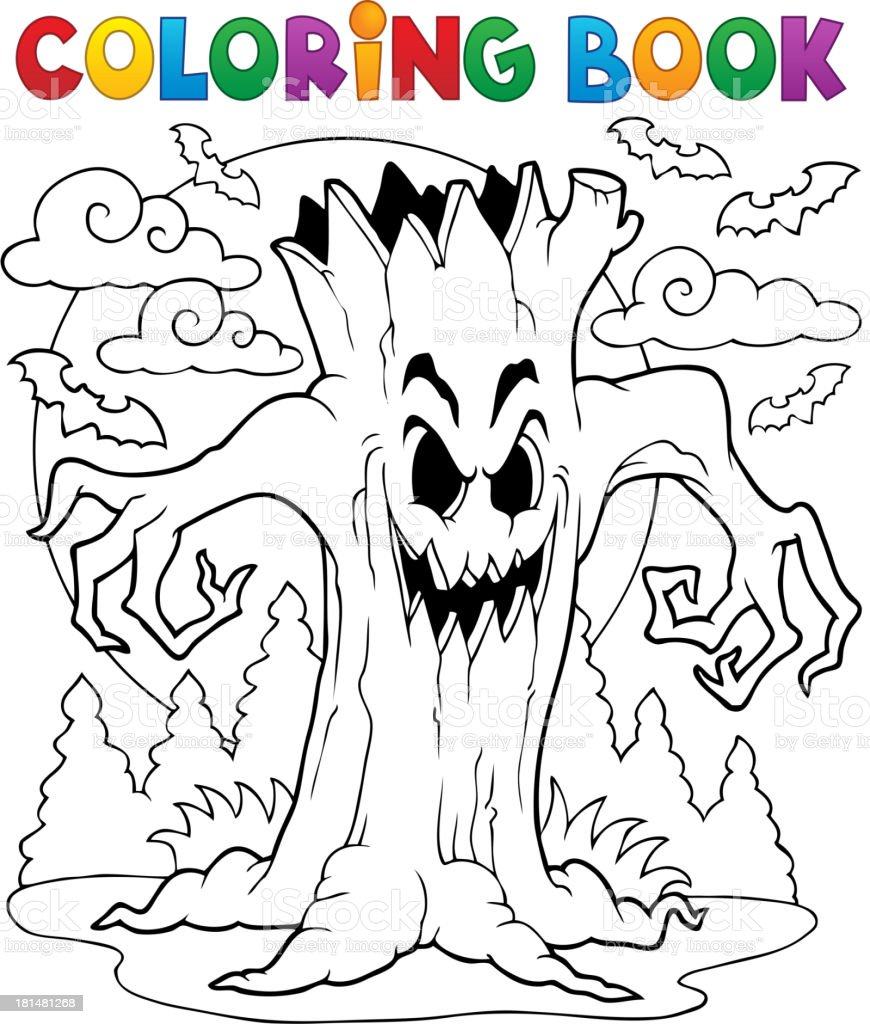 Coloring book Halloween character 7 royalty-free stock vector art