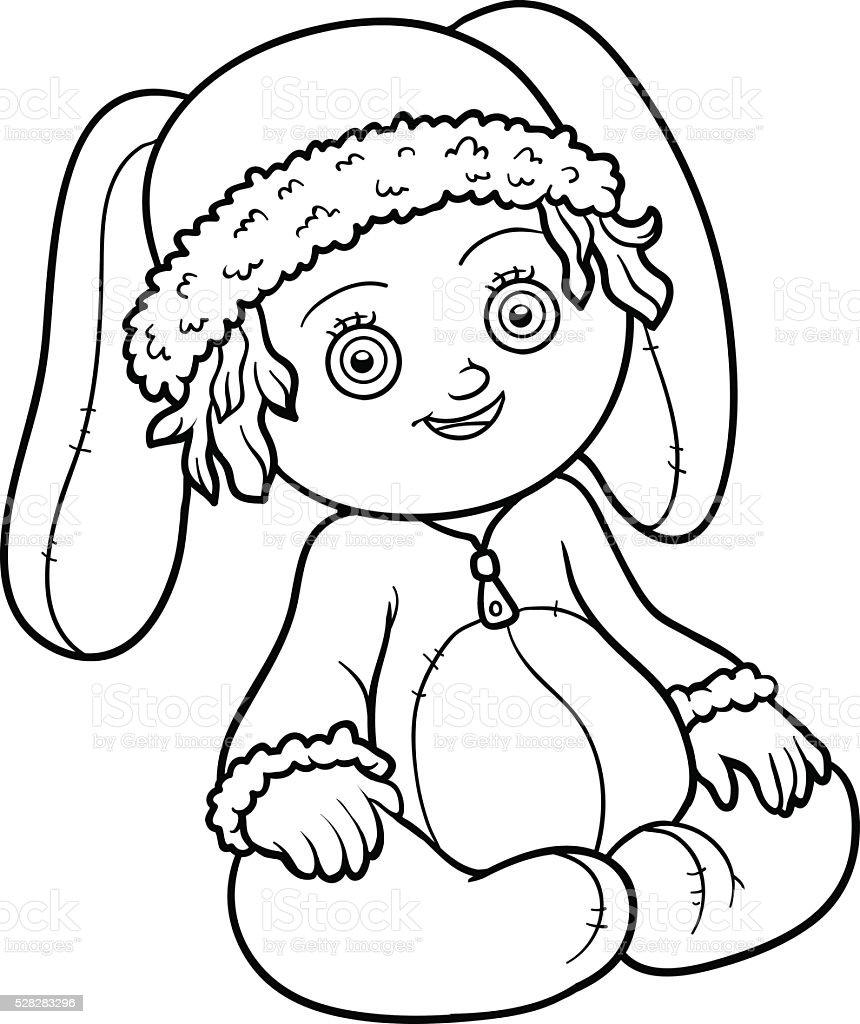 Livre de coloriage fillette dans un costume de lapin stock vecteur libres de droits 528283296 - Coloriage fillette ...