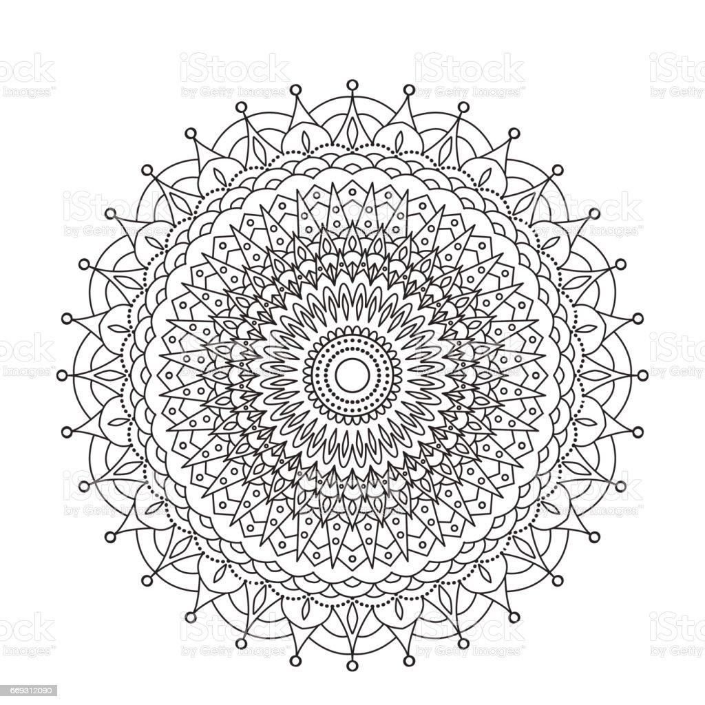 coloring book mandala circle lace ornament round ornamental