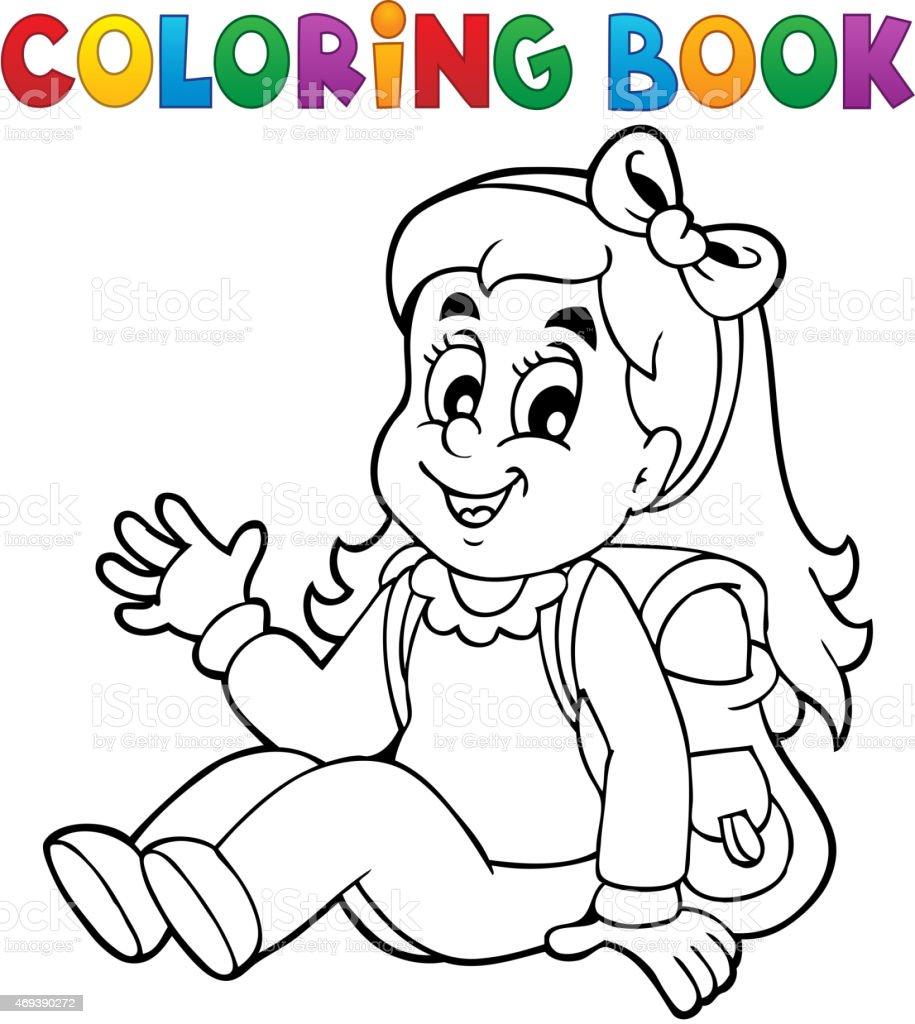 Coloring book bag - Coloring Book Pupil Theme 5 Royalty Free Stock Vector Art