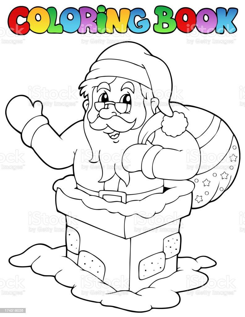 Coloring book Santa Claus theme 7 royalty-free stock vector art