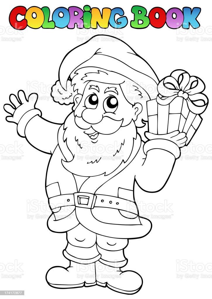 Coloring book Santa Claus topic 1 royalty-free stock vector art