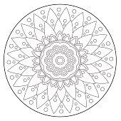 Coloring Geometric Floral Ornament
