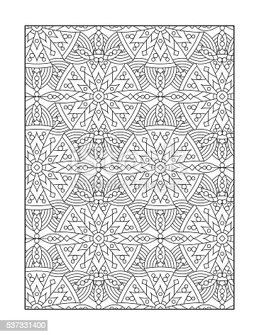 Coloring Page For Adults Or Black And White Ornamental Black And White Coloring Pages For Adults