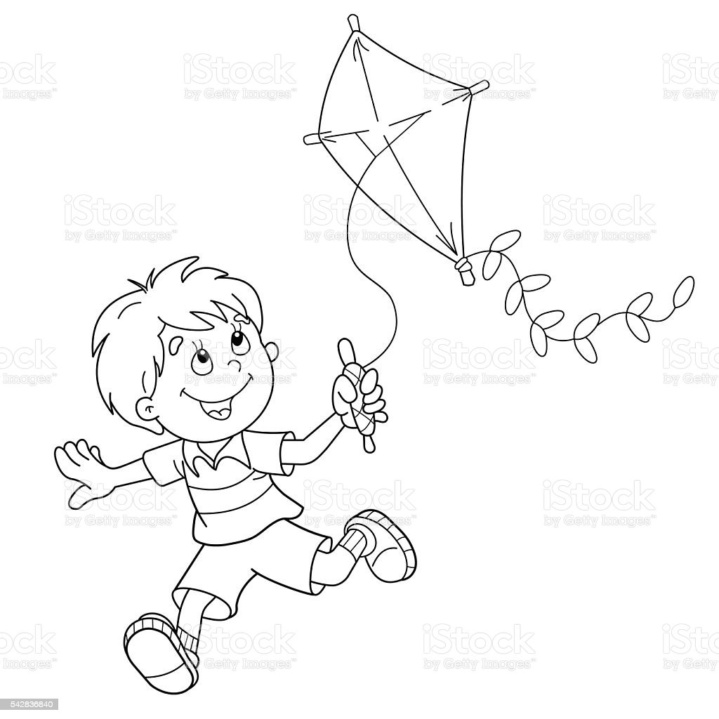 Free coloring page kite