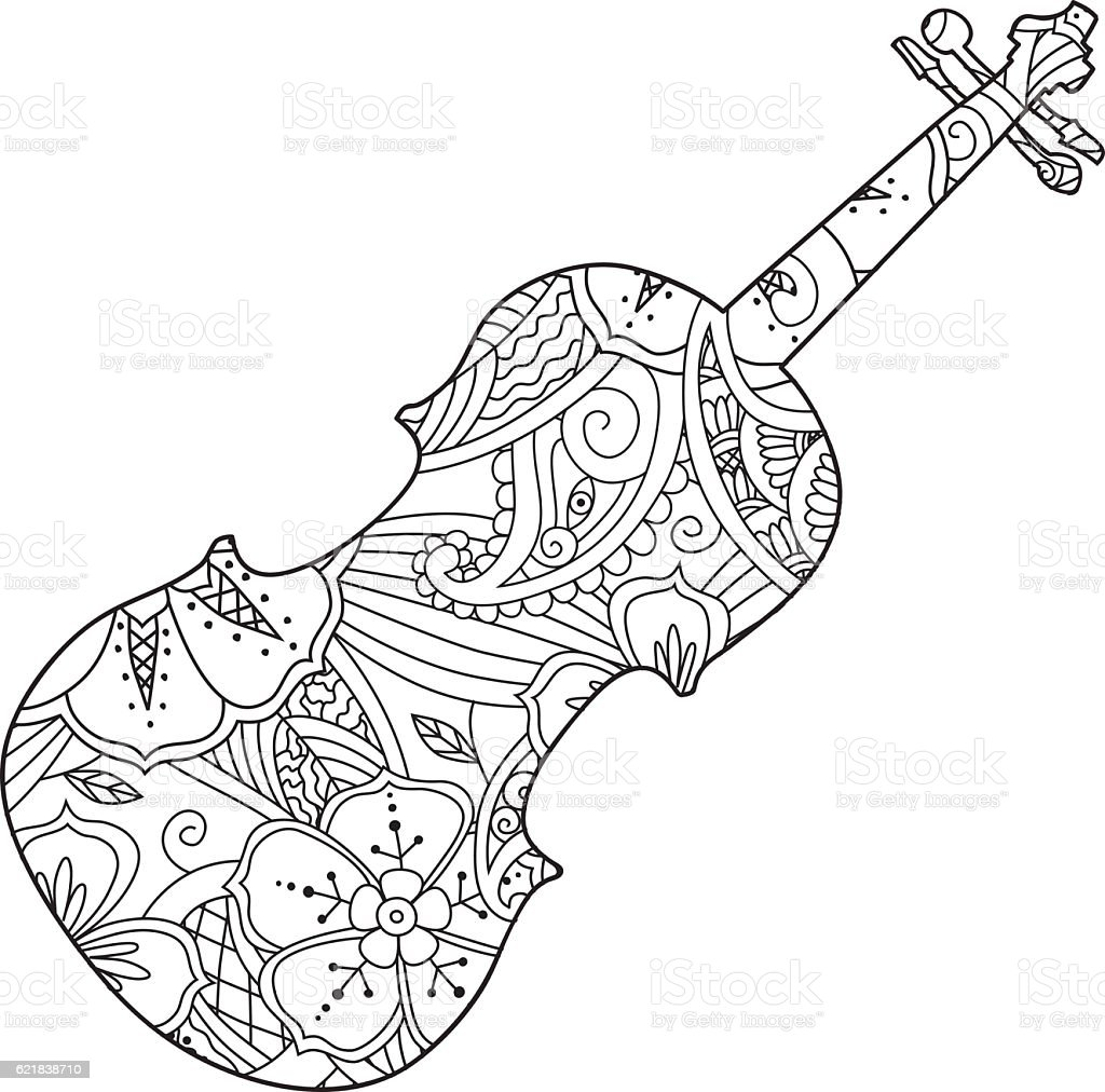 Coloring pages violin