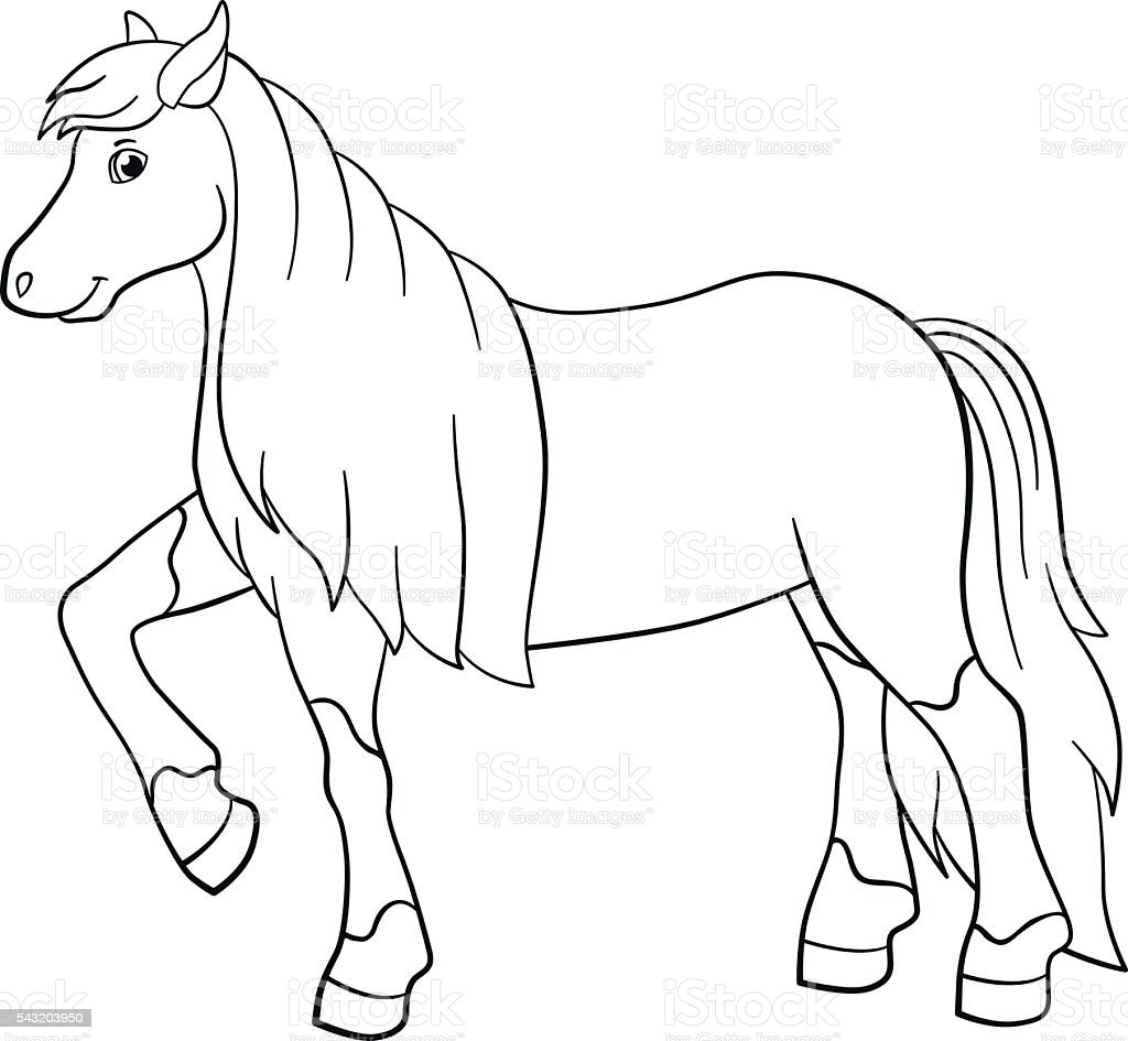 90 Coloring Pages Of Cute Horses