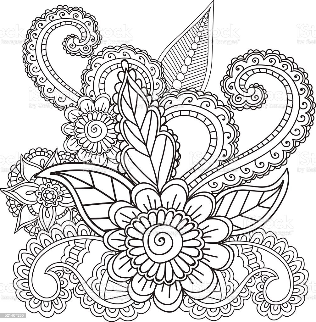 coloring pages for adults henna mehndi doodles abstract floral