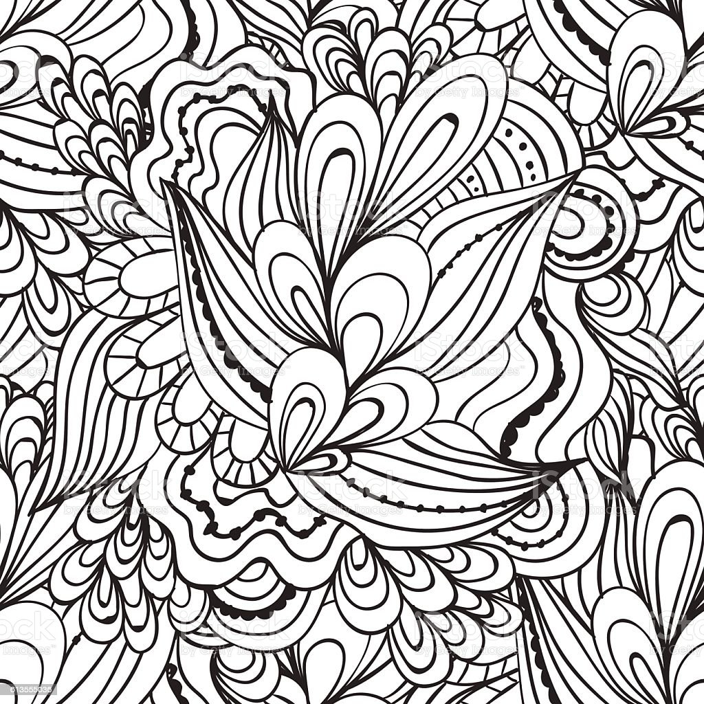 Drawing pages of nature - Coloring Pages For Adults Decorative Hand Drawn Doodle Nature Ornamental Royalty Free Stock Vector