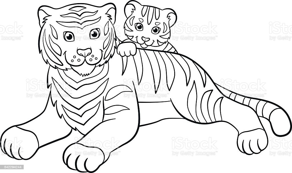 91 Coloring Pages Baby Animals And Mothers