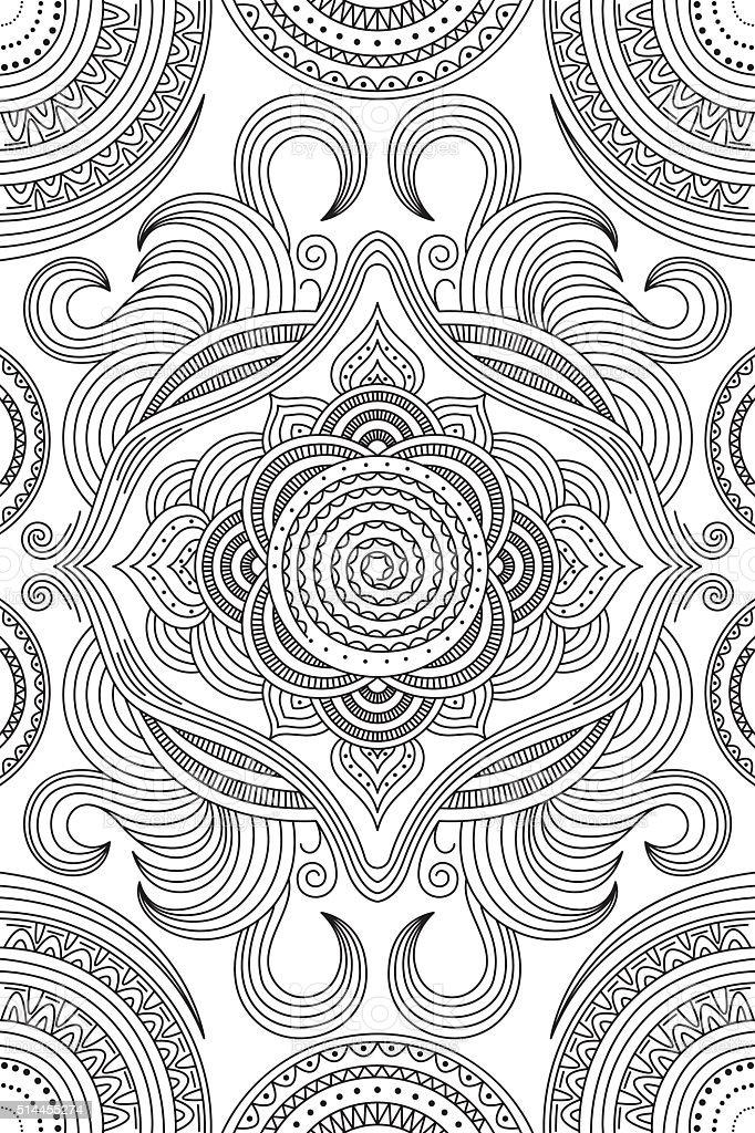 Coloring  pattern vector art illustration