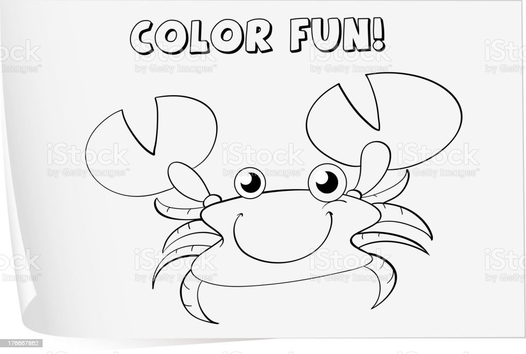 Coloring worksheet royalty-free stock vector art