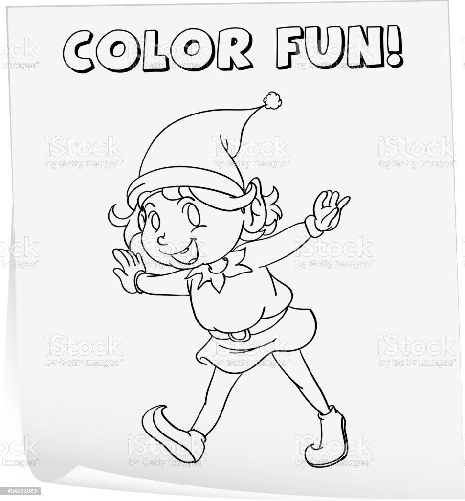 Coloring worksheet royalty-free stock vector art