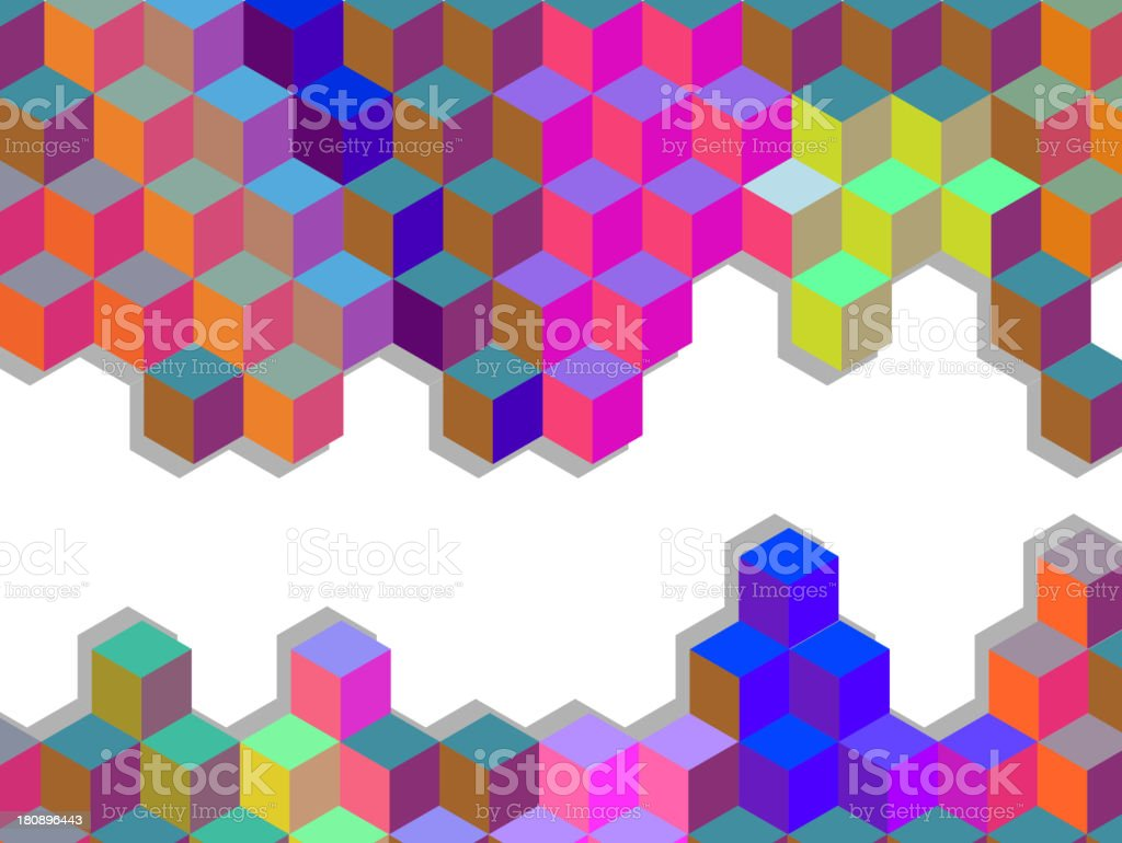colors bee's cells pattern background royalty-free stock vector art