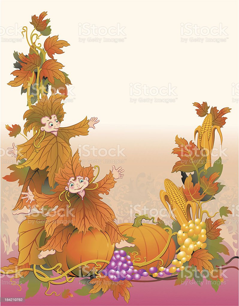 Colors of fall vector art illustration