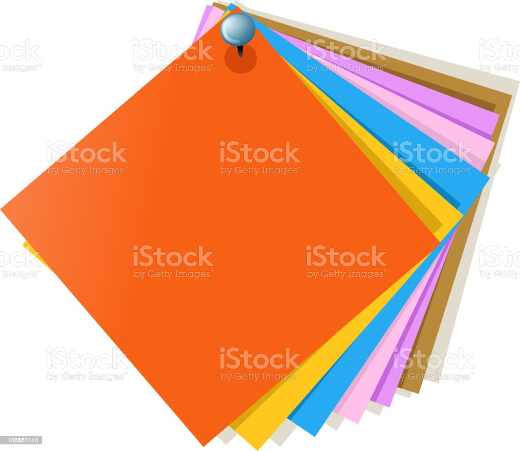 colors of paper royalty-free stock vector art