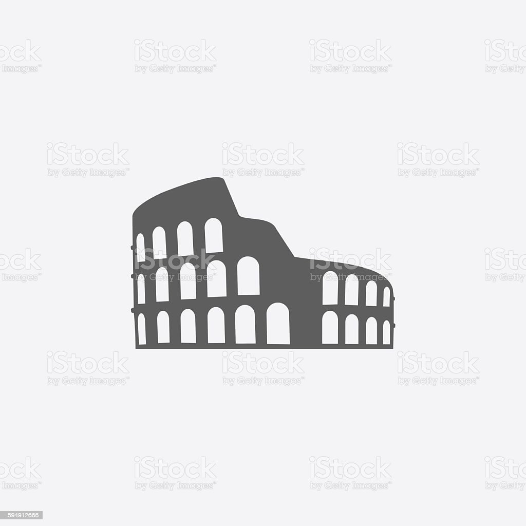 Colosseum icon vector art illustration
