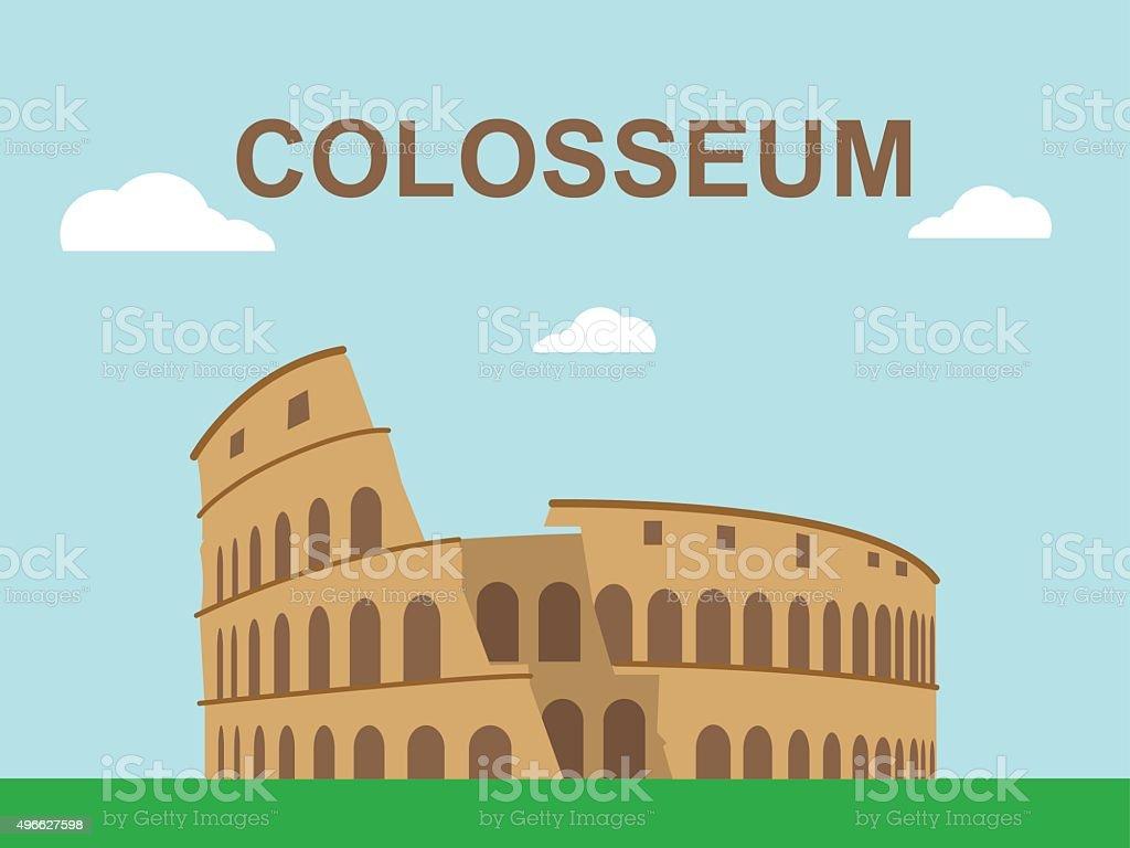 Colosseum illustration vector art illustration