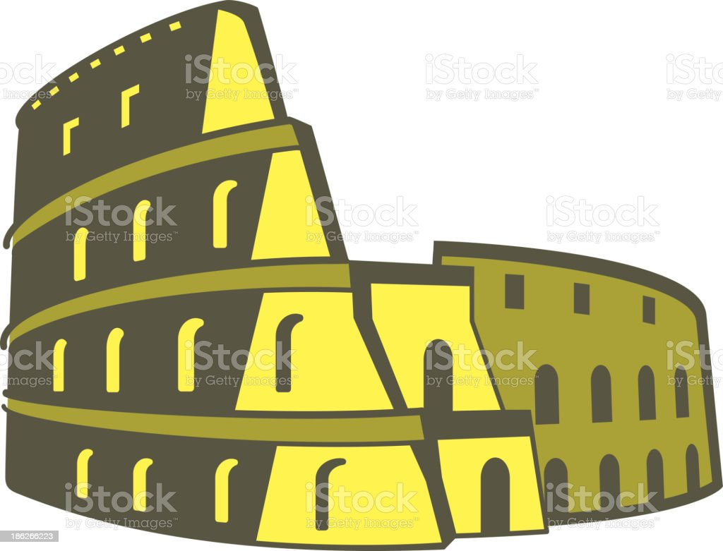 Colosseum,  Landmark of the world series royalty-free stock vector art